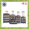 4 pcs two wheels PU leather trolley bag