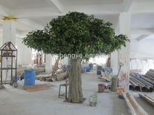 lanscaping large artificial green banyan tree special crown