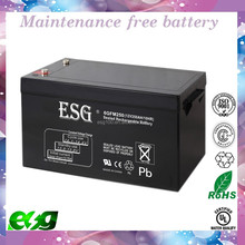 DC 12v 250ah lead acid battery for storage use , deep cycle battery 250ah solar battery