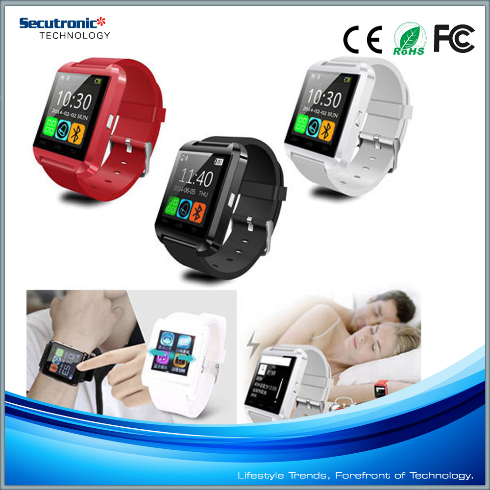 Water Resistant U8 Bluetooth Smart Wrist Watch Phone Mate For Android Smartphone
