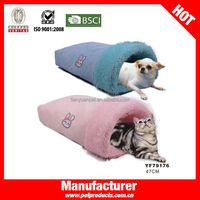 Cute pink polyester dog bed