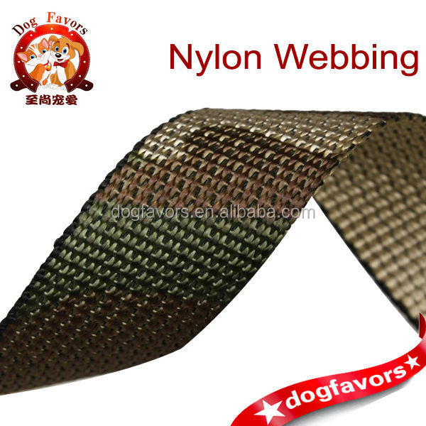 2.5cm Camouflage color beads pattern nylon jacquard webbing