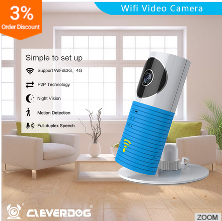 Indoor used OEM Clever dog 3G sim card ip camera plug and play QF401 pan tilt 3g GSM battery powered wireless wifi ip camera