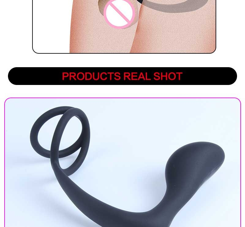 Long beaded Luxury Silicone Anal Plug Silicone Male Prostate Massager Cock Ring Anal Butt Plug Adult Erotic Sex Toys