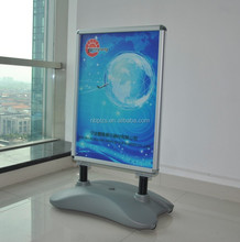 movable sidewalk sign water base aluminium frame stand up picture frames