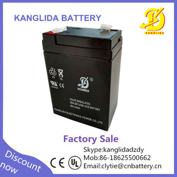 rechargeable 6v 4ah emergency light batteries