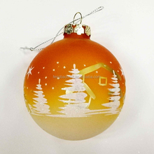 80 mm yellow Christmas tree decoration ball
