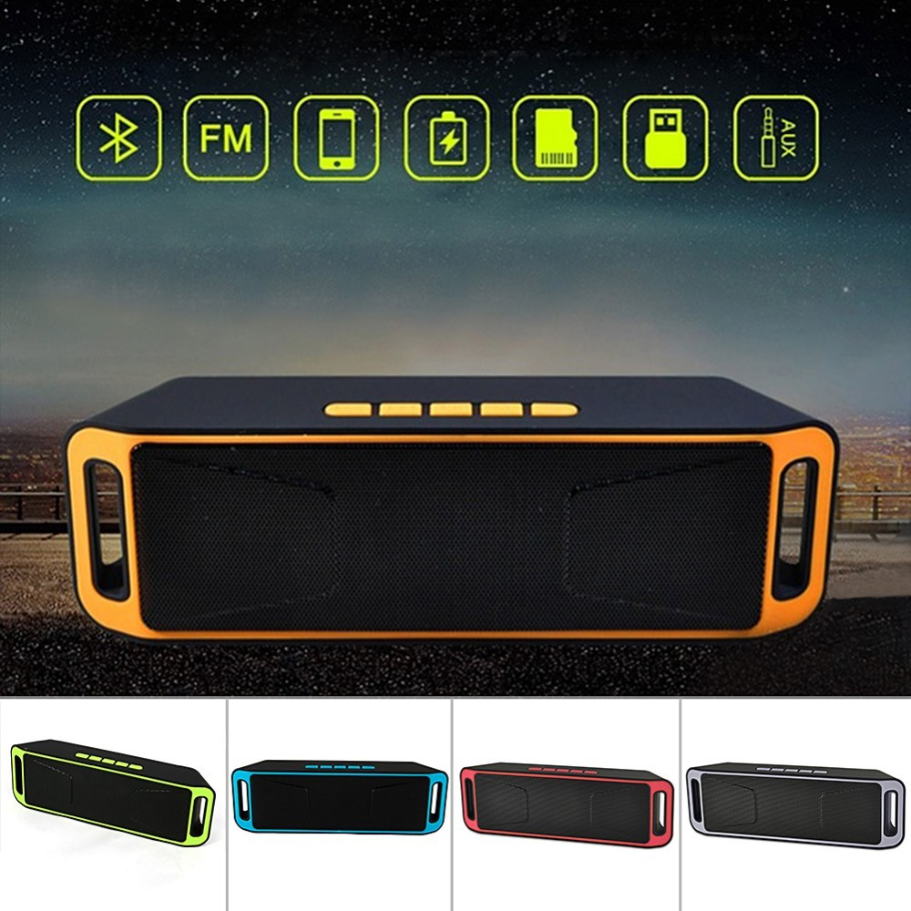 Embrace Bluetooth 4.0 Portable Wireless Speaker TF USB FM Radio Dual Bluetooth Speaker Bass Sound Subwoofer Speakers Drop Ship