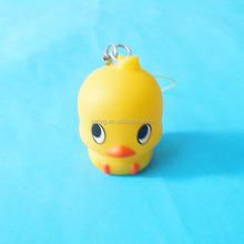 2016 Unique Plastic Cartoon Duck Figurine Pendants Mini Yellow Duck Keychain