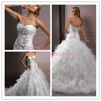 strapless fashiong puffy wedding dresses