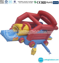 Indoor Inflatable Train Bouncer slide combo, Inflatable Bouncy Castle, Jumping Slide Moonwalk