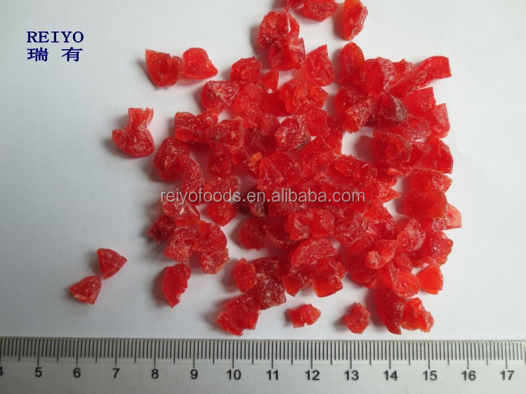 supply dried red cherry dices