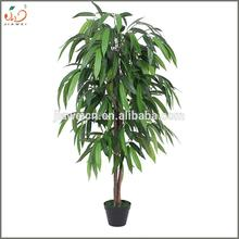Hot sale artificial fruit leaves tree plants cheap artificial mango plants for sale