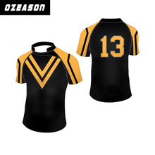 Custom printed rugby jersey / custom printed rugby shirt / make your own design rugby jerseys for team rugby jersey set