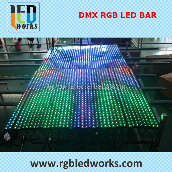 music disco color changing rgb rigid dmx bar up and down