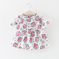 Wholesale Baby Girls Dress Short Sleeve Flower Party Dress