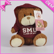 Different kinds of promotional plush bear toys, clothes for stuffed animals