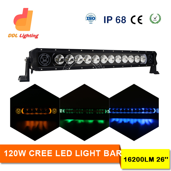 DDL Unique Color optional Off-Road 31.5inch 120W Dynamic LED Light Bar amber/ white colour changeable