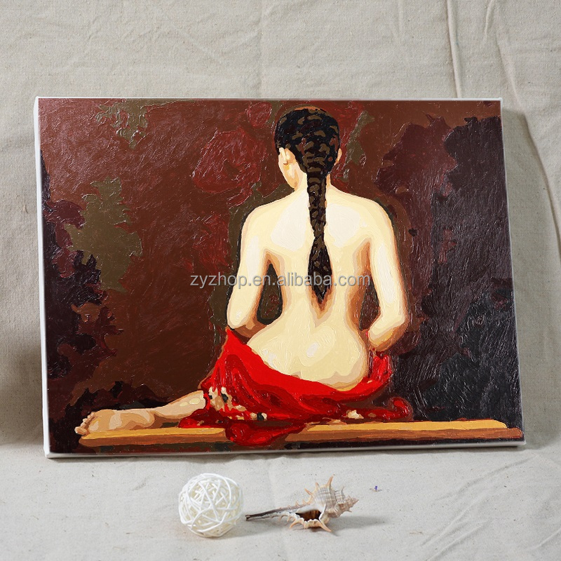 Free mind free painting nude girl oil painting wall painting for bedroom decoration