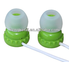cute cartoon earphone with bee bottle cap shape,funny earbuds accept logo printing