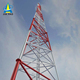 3 legs self supporting lattice tubular angle steel telecommunication microwave tower