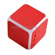2017 OEM Mini Cube square shape Portable Stereo wireless bluetooth speaker with LED light