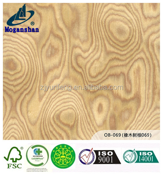 recon wooden door veneer with fleece oak burl for flooring and laminate board