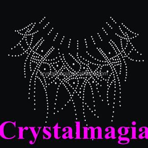 clear necklace crystal rhinestone trims bling decroation hotfix rhinestone  applique 3394293277f2