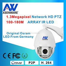 22X Zoom network P2P function 960P IP PTZ camera with IR,smart mobile surveillance monitor