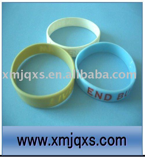 Personality printed silicone plastic bangle bracelet