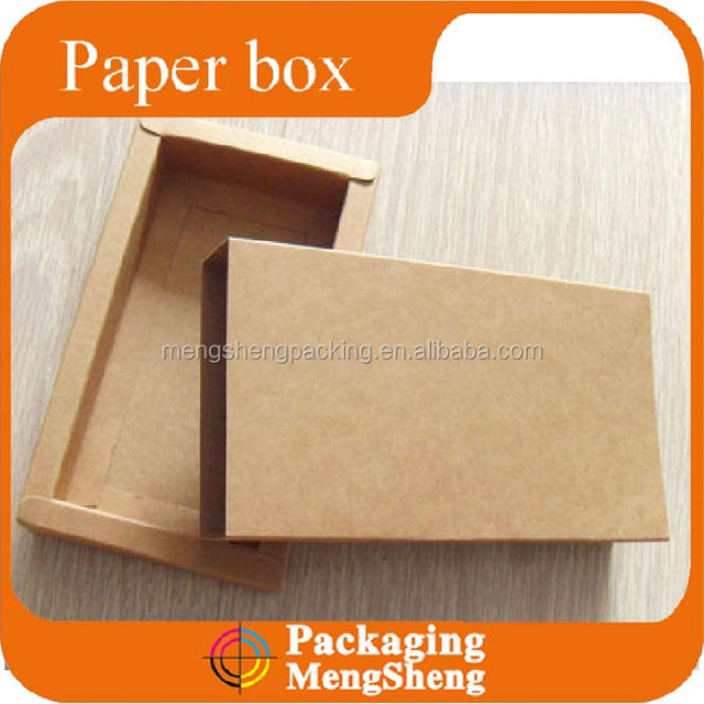 quality ensure cheap price factory custom print and size packaging kraft paper box