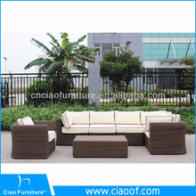 Outdoor garden rattan sofa set patio furniture