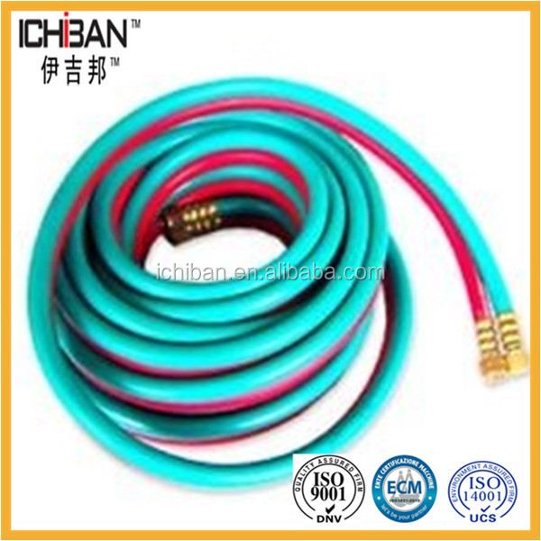Multiple fiber braided rubber hose flexible compound Twin line Welding Hose for cutting equipmnet