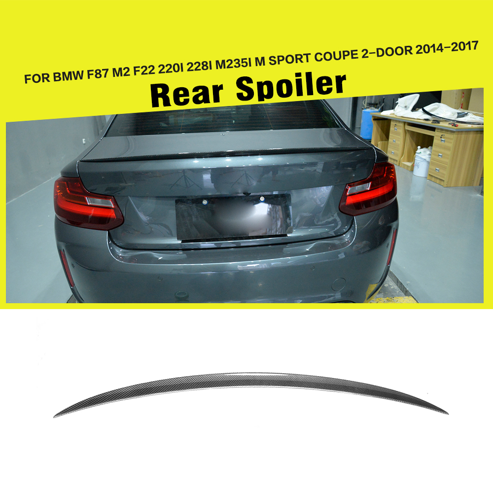 Carbon Fiber F22 Car Trunk Spoiler for BMW F87 M2 F22 220i 228i M235i M Sport Coupe 2-Door 14-17