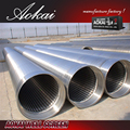 water sand 10 slot well wedge wire screen pipe SS316