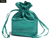 2016 Peacock Green Satin drawstring bag & jewelry satin pouch