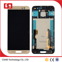 New Gold Touch Digitizer Glass LCD Display Assembly For HTC One M9 Plus M9+ with Frame