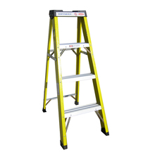 Single step 3-foot fiberglass lidl ladder for sale