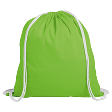 Recyclable Canvas material drawstring backpack, promotional drawstring BAG