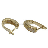 Unisex Fashion Raw Brass Material Latest Indian Trendy Earrings Designs