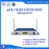 GEPON ONU 2FE+WiFi Fiber Optic Router WiFi Modem Networking Equipment for FTTH Solution Made in China