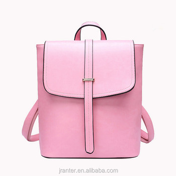 Wholesale fashion custom women high school leather backpack laptop bags