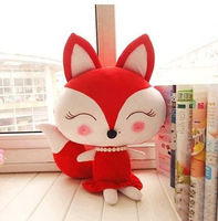 fox soft toy cartoon red blue baby cuddle dolls for birthday and christmas stuffed animals