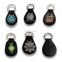 All types of keychains wholesa custom embossed leather keychain