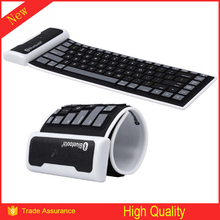 2015 Hot Selling Flexible Folding Waterproof Wireless Bluetooth Silicone Soft Keyboard
