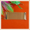 High quality fashion metal blet buckle gold mesh design metal trim for decoration