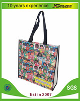 Promotional wholesale laminated cloth fashion cheap fabric reusable gift PP non woven bag