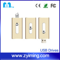 Zyiming USB disk factory wholesale 8/16/32/64 otg usb flash drive chip for iphone