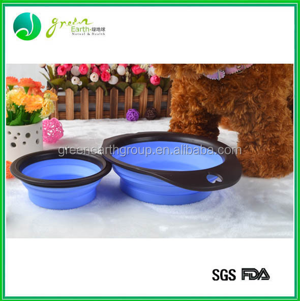 Hot sale popular food grade silicone folding bowls for dog