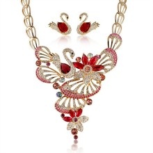 beautiful gold indian wedding jewelry sets jodha akbar artificial swan bridal jewelry set
